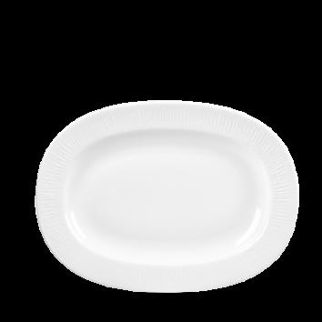 Uppläggningsfat fat 28 cm vit