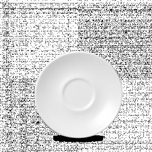 """White  Cappuccino Saucer 6.25"""" Box 24"""