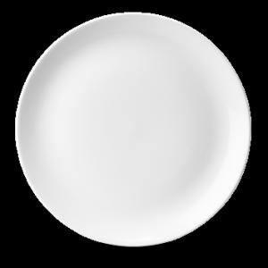 "White Evolve Coupe Plate 10.25"""
