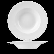 Tallrik djup pasta 28 cm vit
