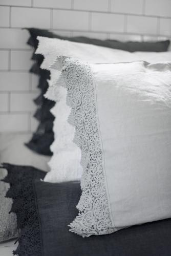 Lace pillow case 50*60 Light grey