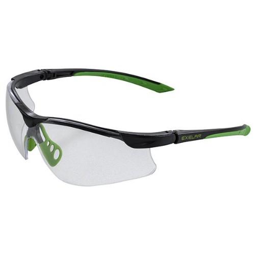 Skyddsglasögon med reptålig lins och skalmar av polykarbonat med UV-filter