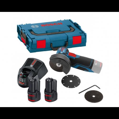 Bosch GW12V-76 Vinkelslip med batterier och laddare