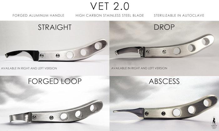 ICAR Hoof knife Aluminium handtag Drop