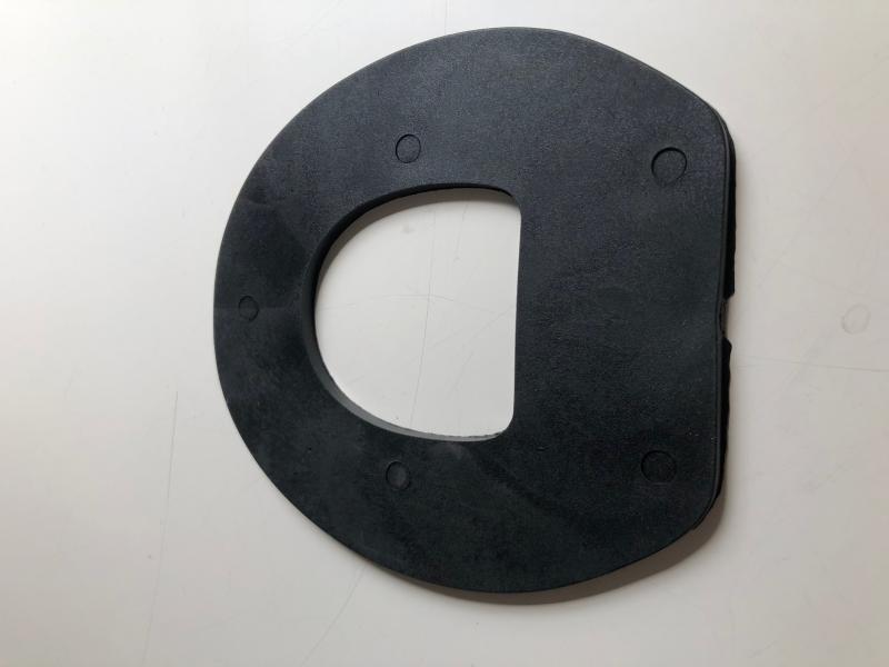 Svart plastsula urtag för stråle 6mm
