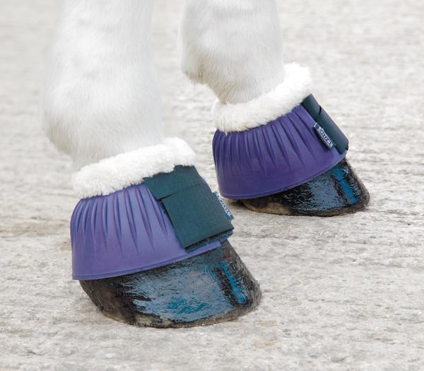 Shires boots med luddkant för hästar