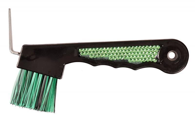 Hovkrats med glitter och borste grön