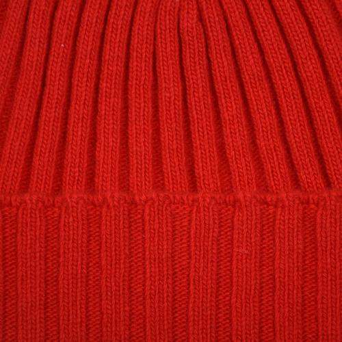 Fisher Ribbed Beanie Red
