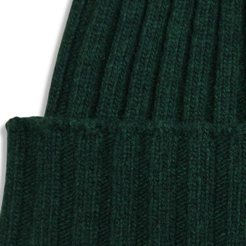 Fisher Ribbed Beanie Green