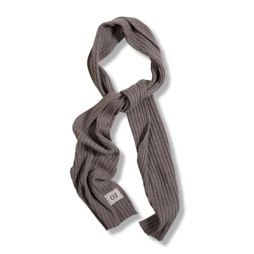 Ribbed Cashmere Scarf Beige