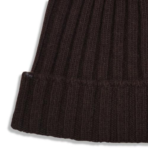 Fisher Ribbed Beanie Brown