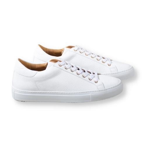 Wingfield Grain Leather White