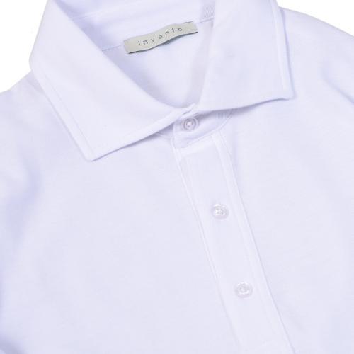 Polo Pique Popover White