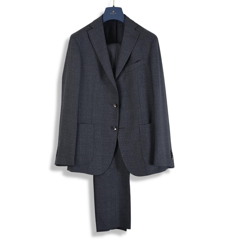 Grey wool K-Jacket suit