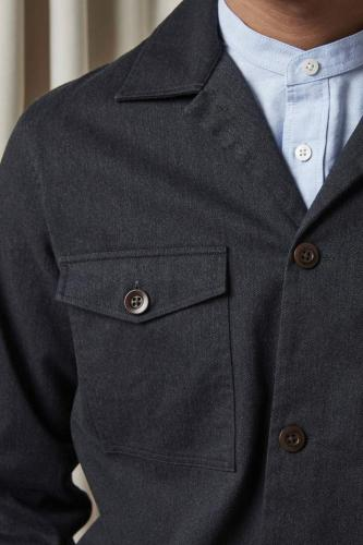 Pete 1206 Cotton Polyester Overshirt Navy