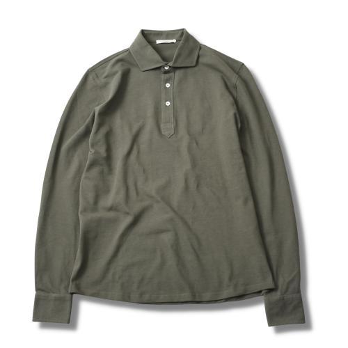 Polo Pique Long Sleeve Green
