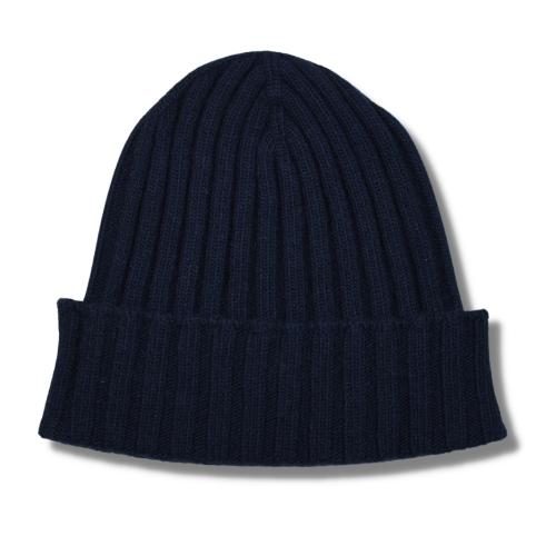 Fisher Ribbed Beanie Navy