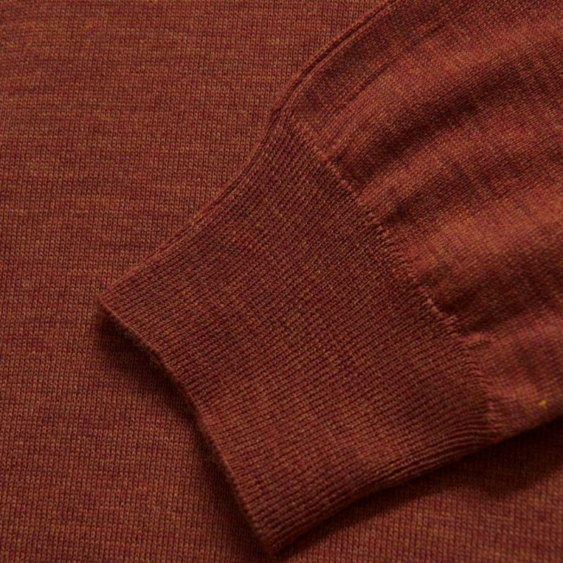 Cole Rollneck Rust Red