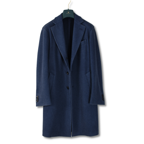 Blue 100% virgin wool blend coat
