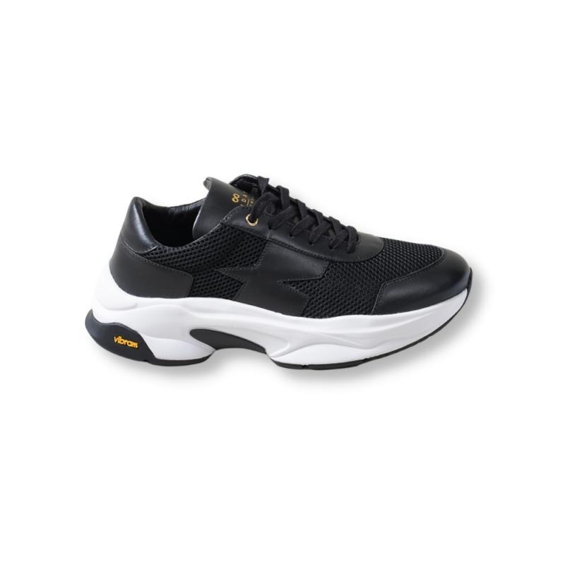 Runner Black Leather/Mesh