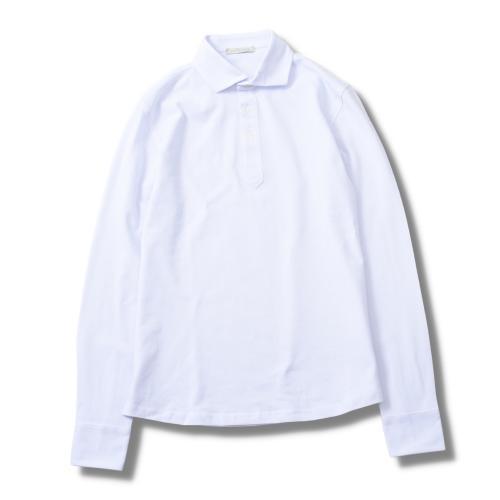 Polo Pique Long Sleeve White