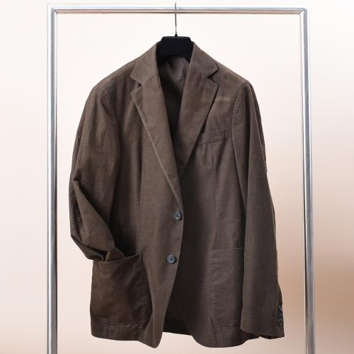Egel Corduroy Patch Suit Brown
