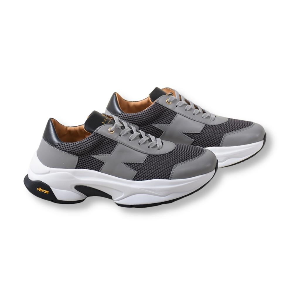 Runner Grey Leather/Mesh