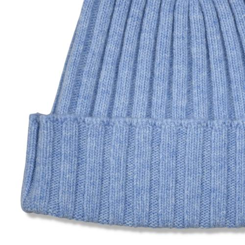 Fisher Ribbed Beanie Blue