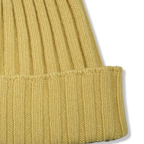 Fisher Ribbed Beanie Yellow
