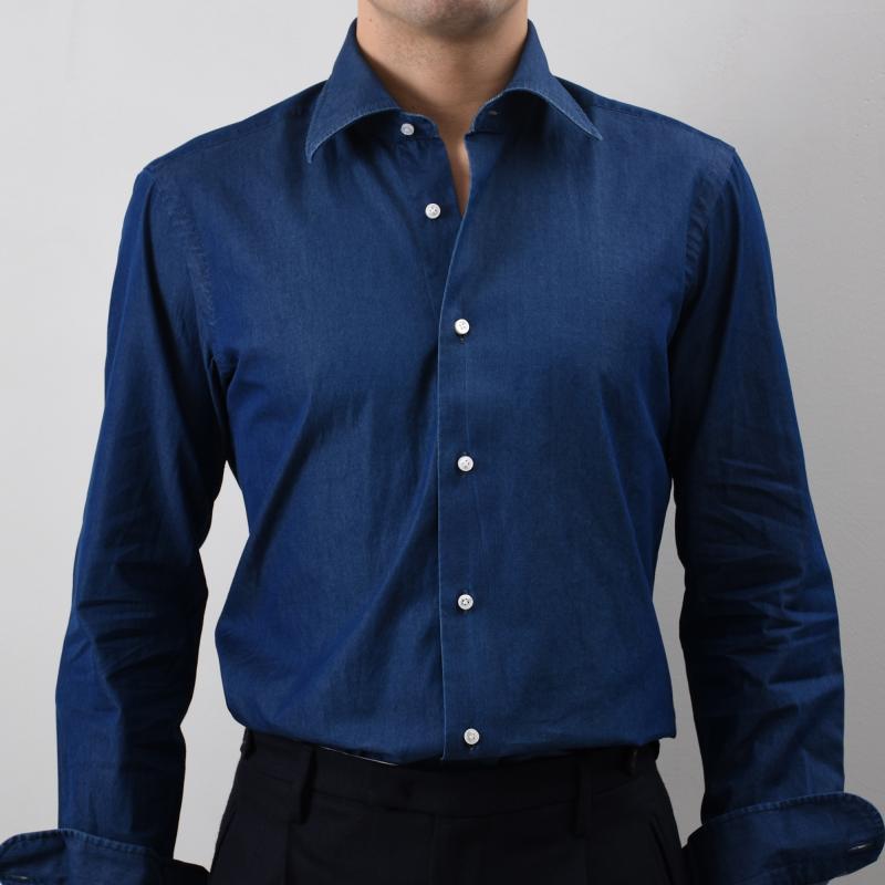 Semi Slim Denim Shirt