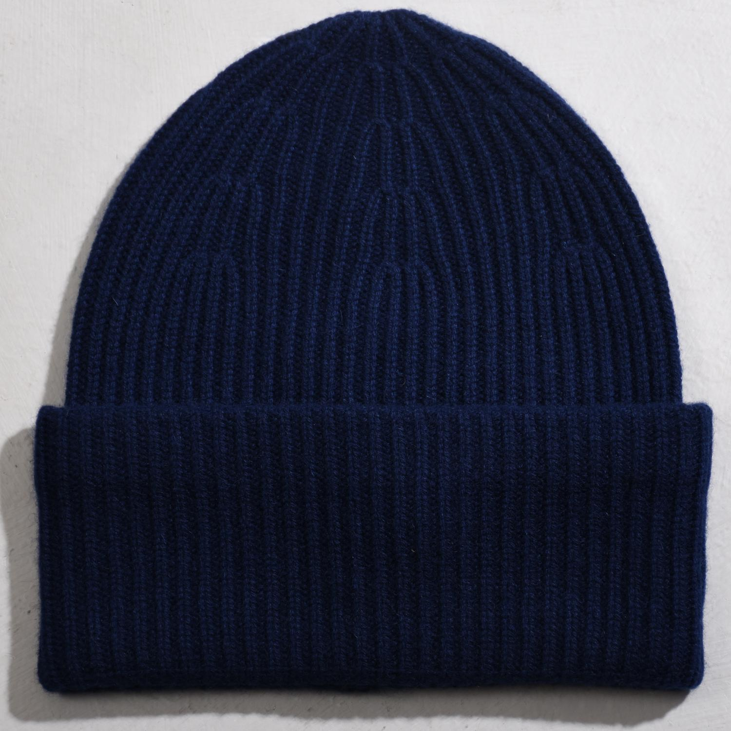 Big Hat 100% Cashmere Navy