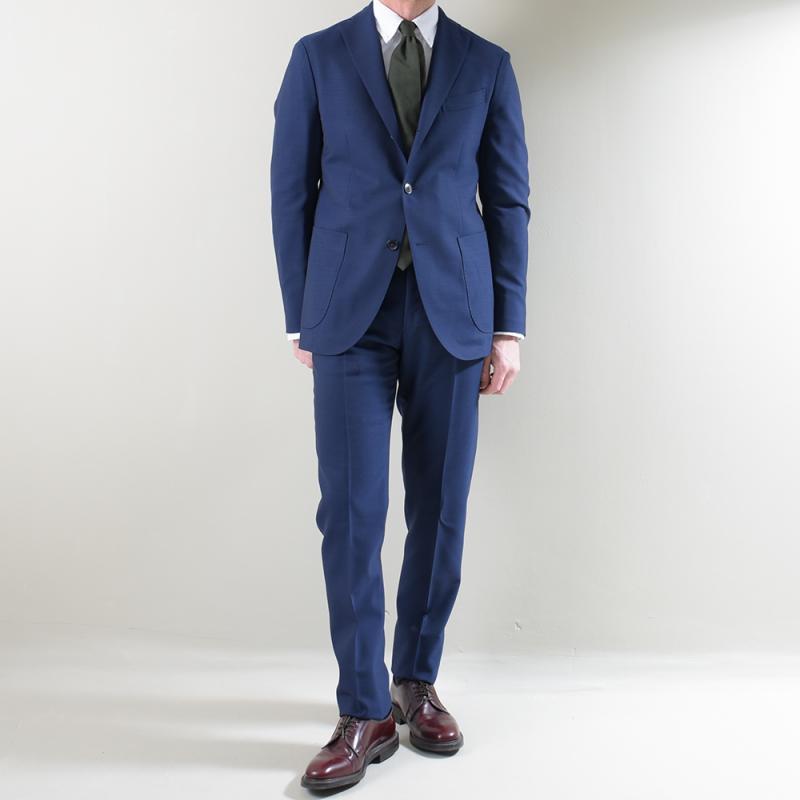 Blue virgin wool K-Jacket Suit