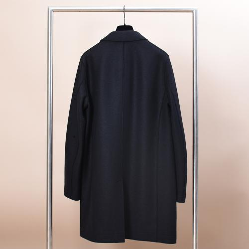 Boxy Coat Pressed Wool Black