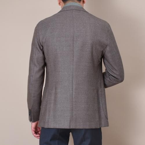 Brown wool hopsack K-Jacket