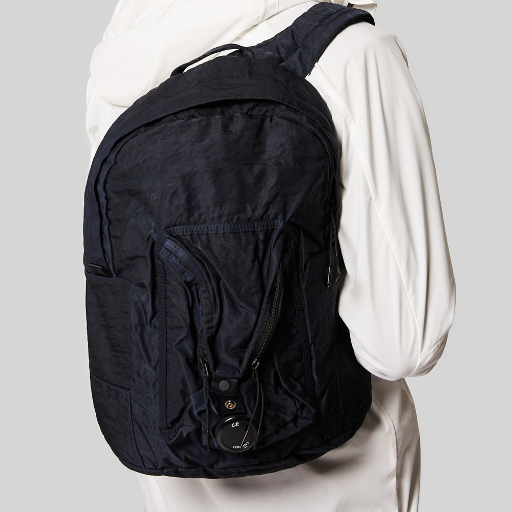 Garment Dyed Nylon Sateen Lens Backpack Total Eclipse Blue