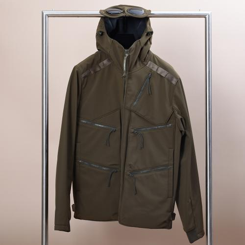 C.P. Shell Goggle Hood Utility Jacket Green