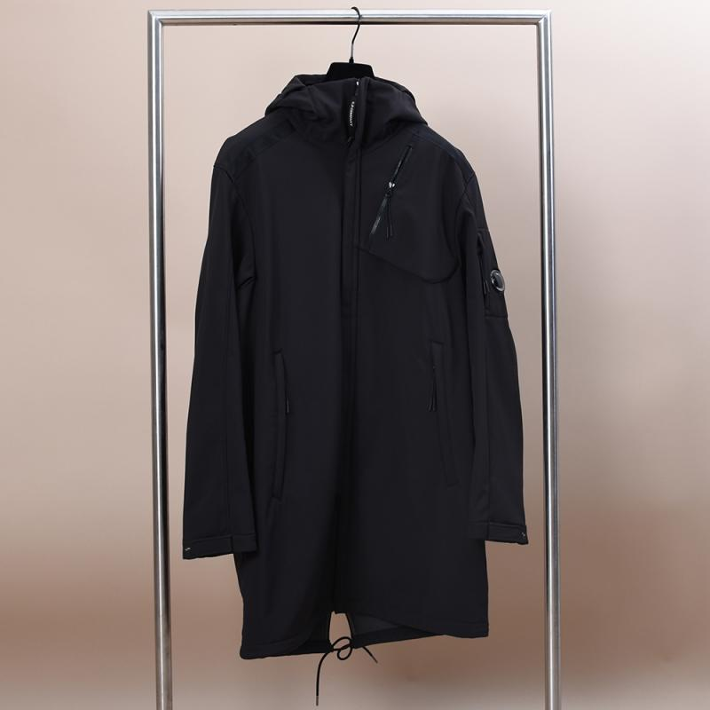 C.P. Shell Hooded Lens Parka Black