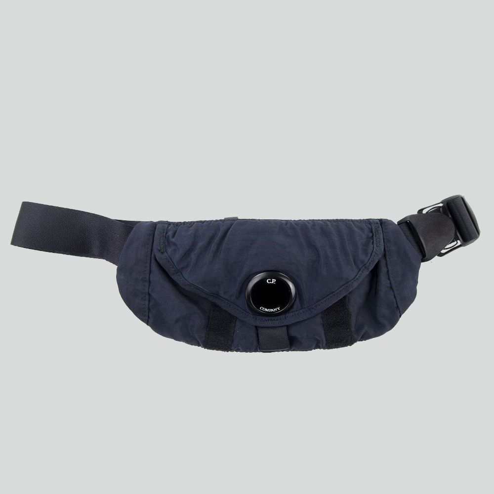 Garment Dyed Nylon Sateen Waist Bag Total Eclipse Blue
