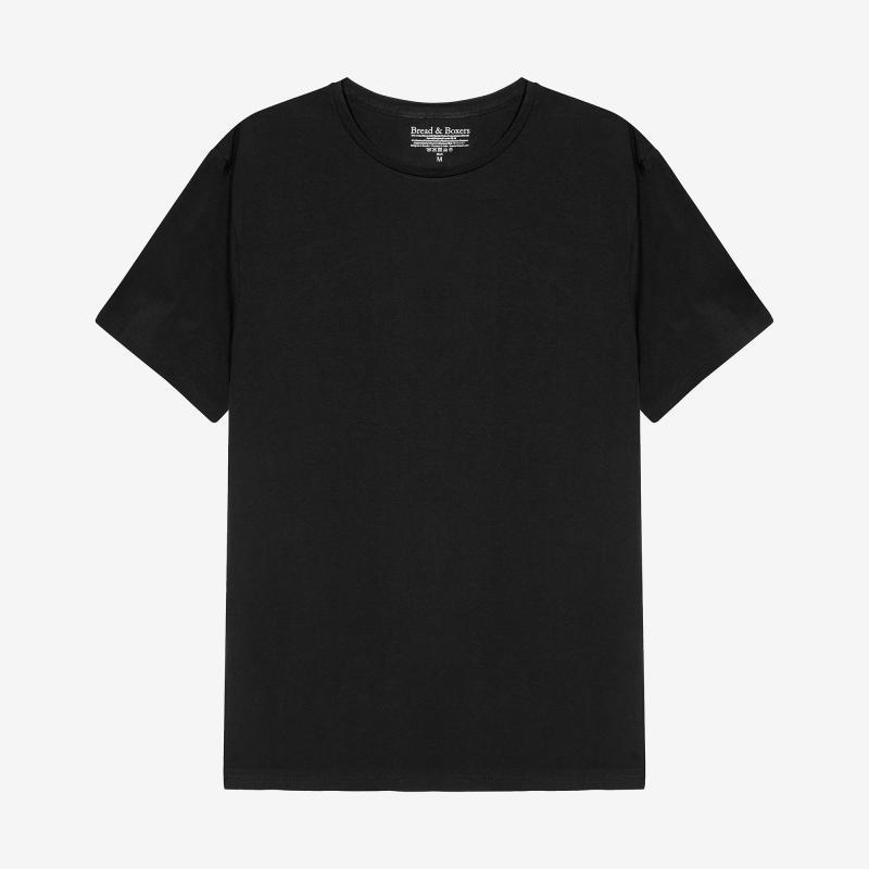 Crew-Neck cotton Black