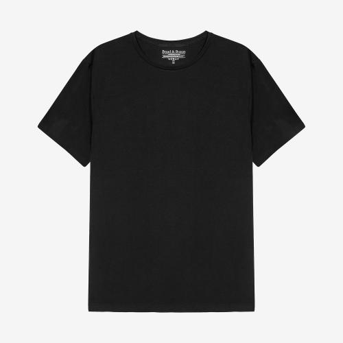 Crew-Neck cotton Black