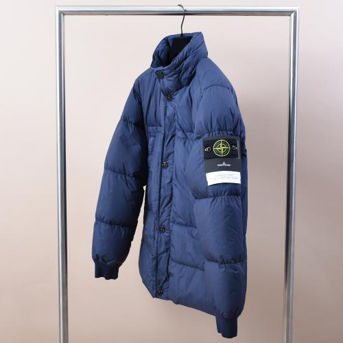 Crinkle Reps NY Hooded Down Jacket 731540123 Blue