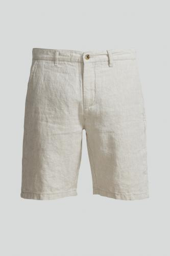 Crown 1196 Linen Shorts Beige
