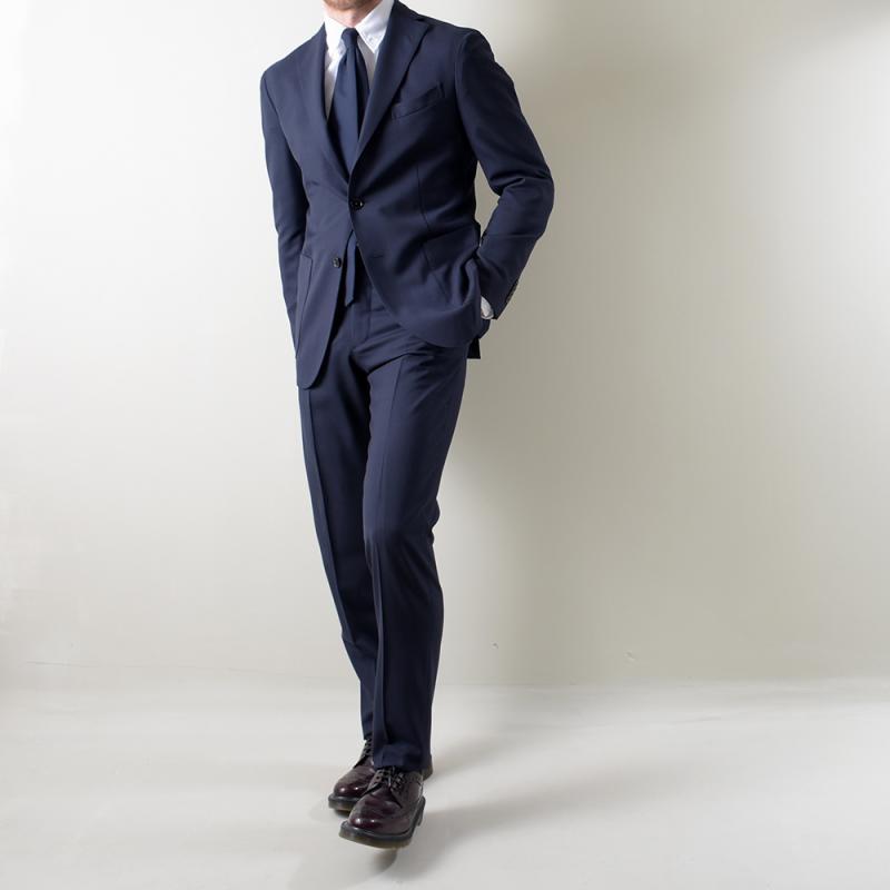 Dark blue virgin wool K-Jacket Suit