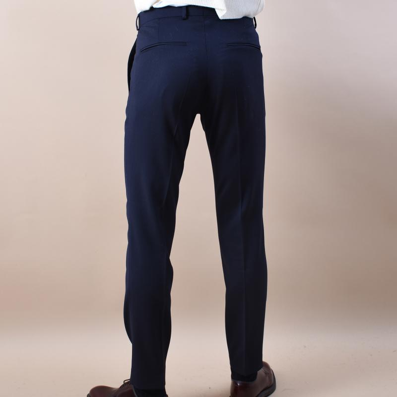 Denz Trousers Faded Light Blue