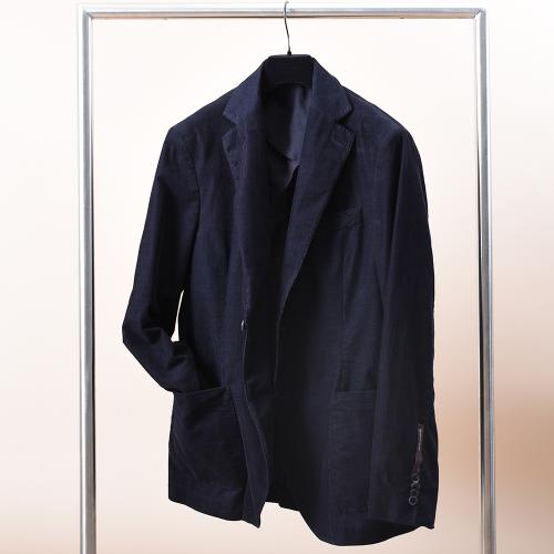 Egel Corduroy Patch Suit Navy