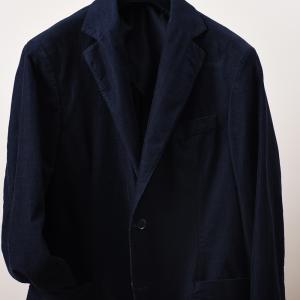 Egel Corduroy Patch Blazer Navy