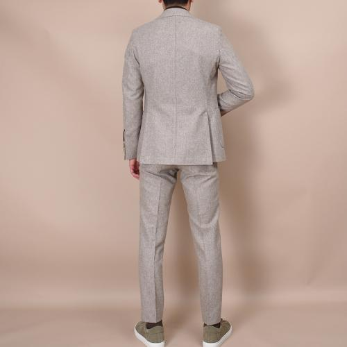 Egel Patch Flannel Suit Sand