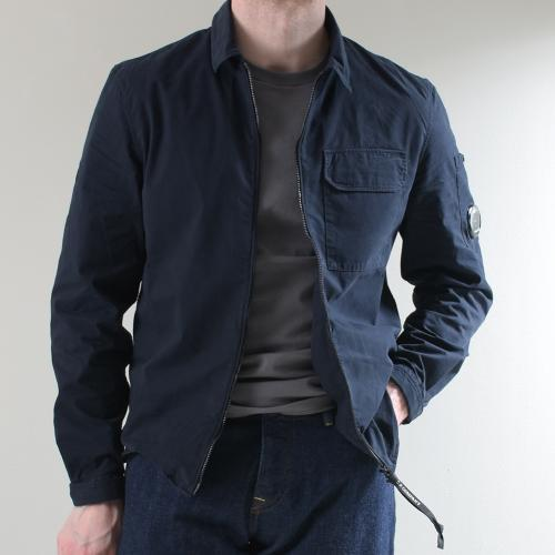 Gabardine Garment Dyed Utility Shirt Total Eclipse