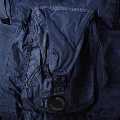 Garment Dyed Nylon Sateen Lens Backpack Blue