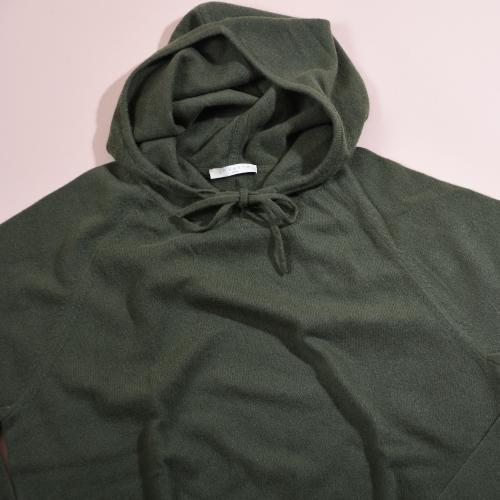Hooodie 100% Cashmere Green